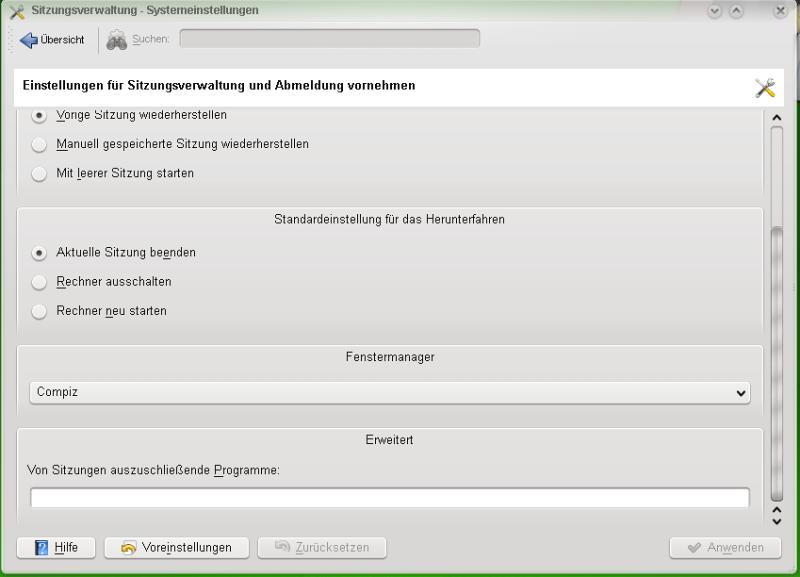 compiz fusion2 - Opensuse 11: Compiz Fusion im KDE4 installieren