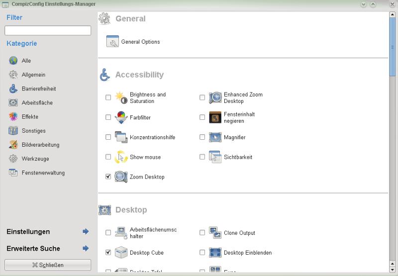 compiz fusion4 - Opensuse 11: Compiz Fusion im KDE4 installieren