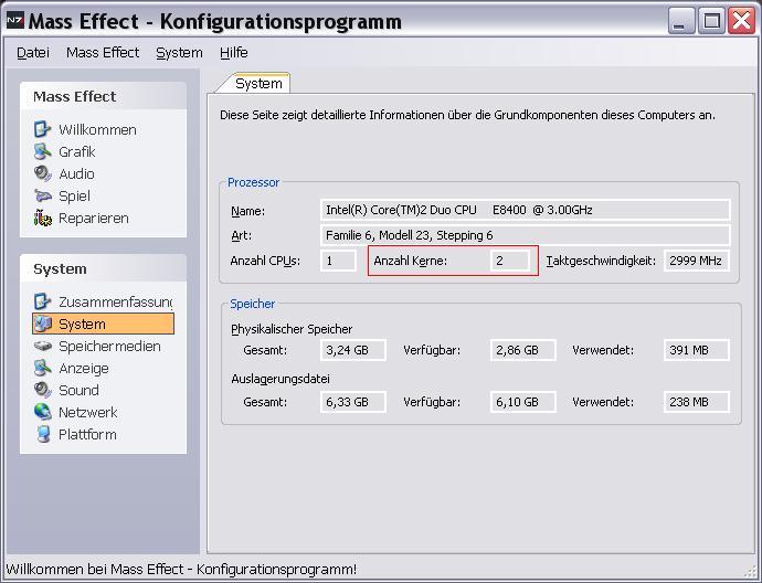 limit cpu id - Mass Effect zeigt nur einen Kern unter XP an